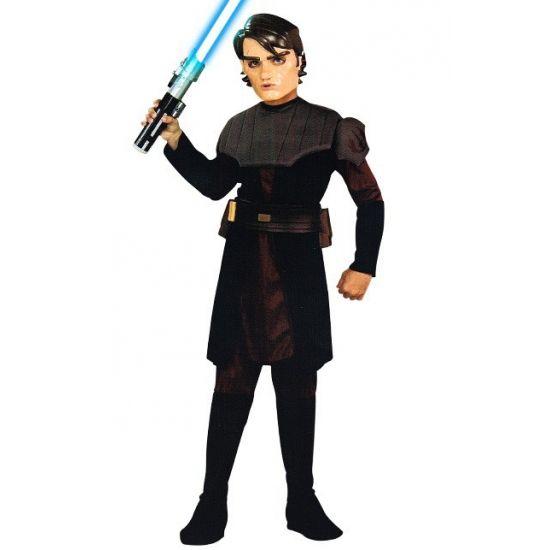 Skywalker kostuum voor jongens. Dit complete zwart met grijze Skywalker kostuum voor jongens bestaat uit een tuniek, broek met laars kappen, riem en masker. Carnavalskleding 2015 #carnaval