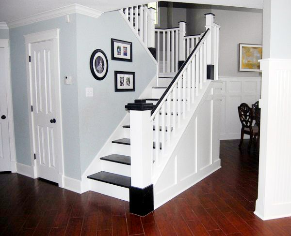 Ditch Carpeted Stairs and Go For A Painted Look That Will Update Your Home Quickly! -Remodelaholic