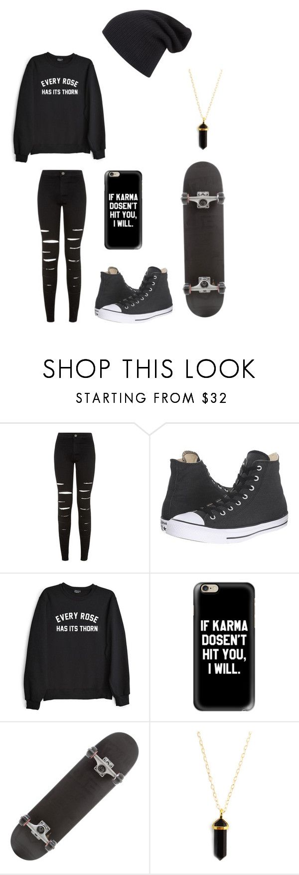 """""""Untitled #114"""" by darksoul7 on Polyvore featuring New Look, Converse, Private Party and Casetify"""