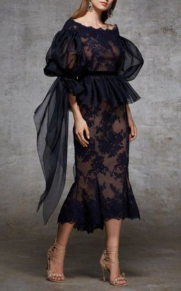 Off The Shoulder Lace Top and Skirt by Marchesa
