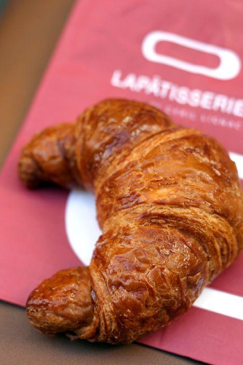 A croissant from La Pâtisserie in Paris