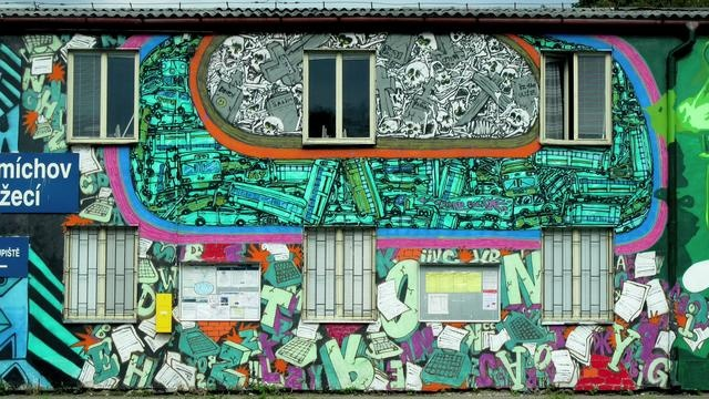 Tron, X dog, Pasta  Praha graffiti