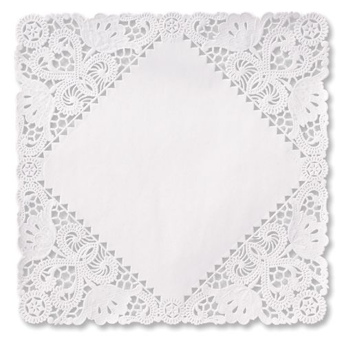 9 inch square paper doilies Safepro 9-inch white round lace paper doilies, 500-piece case, are ideal for serving cakes and pies their pure white colouring and subtle lace pattern make them.