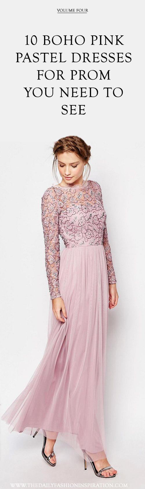the best selection of pastel #pink #prom #dress