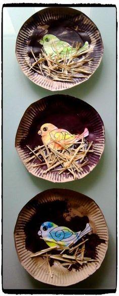 Nid d'oiseau en assiette en carton –