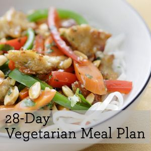 Vegetarian Meal Plan from EatingWell.com - I'm not even vegetarian but this looks delicious!
