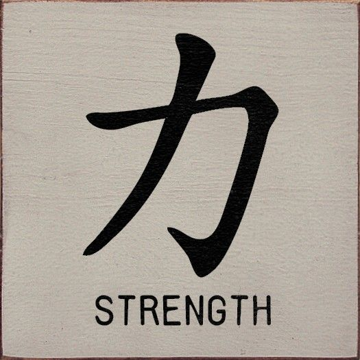 Image detail for -Chinese symbol for Strength