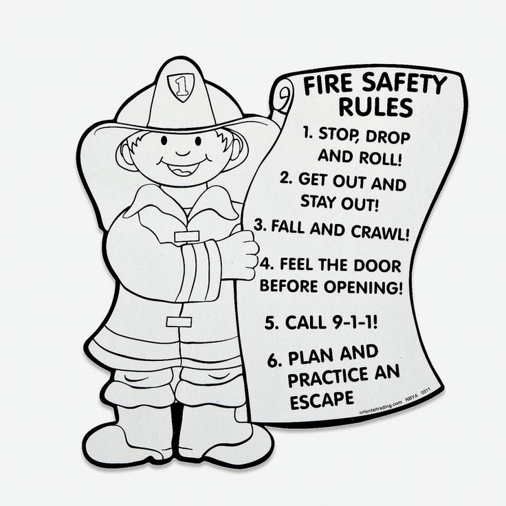 Unique Fire Safety Coloring Pages For Free Colouring Pages ...