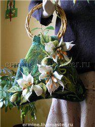 Floral Felted Bag 3D design