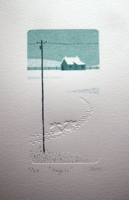 One layer card - dry embossed; http://dreamsicleday.tumblr.com/post/17318799200