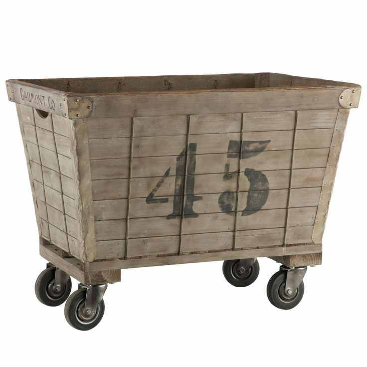 DIY Industrial Laundry Cart - Knick of Time