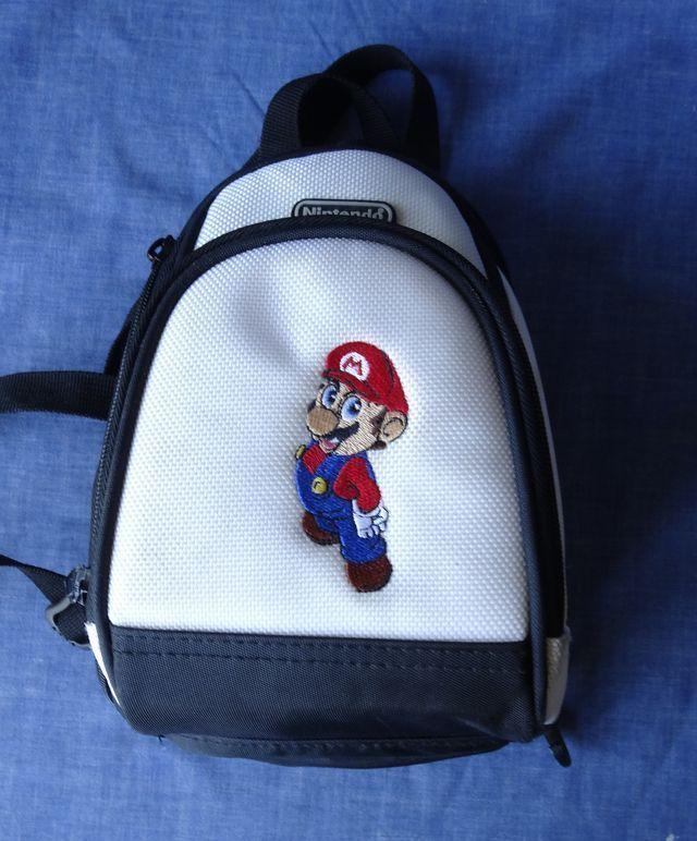 Nintendo DS/GAMEBOY/3DS MARIO Travel Bag Shoulder Tote Black White GENUINE!