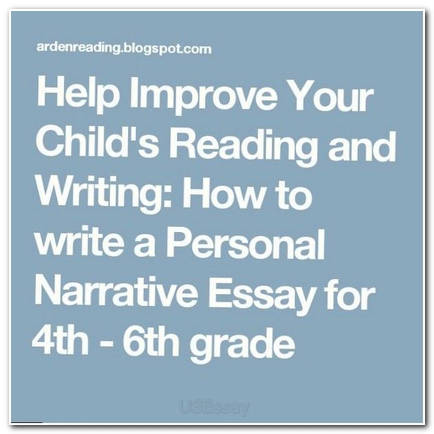 Narrative essay sample for kids