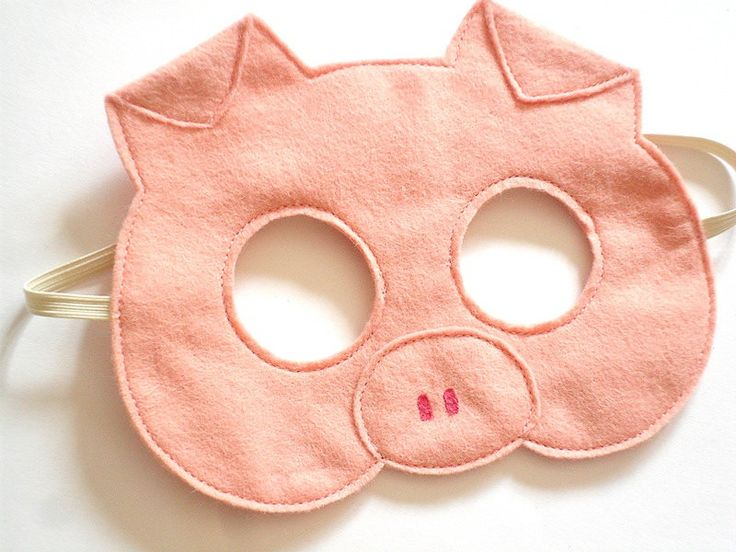 Pig Felt Children Mask Kids Carnival Dress up von BHBKidstyle