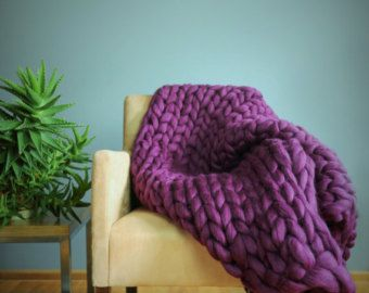 Chunky Knit Blanket Throw Blanket Sofa Throw Extrem от Merrisson