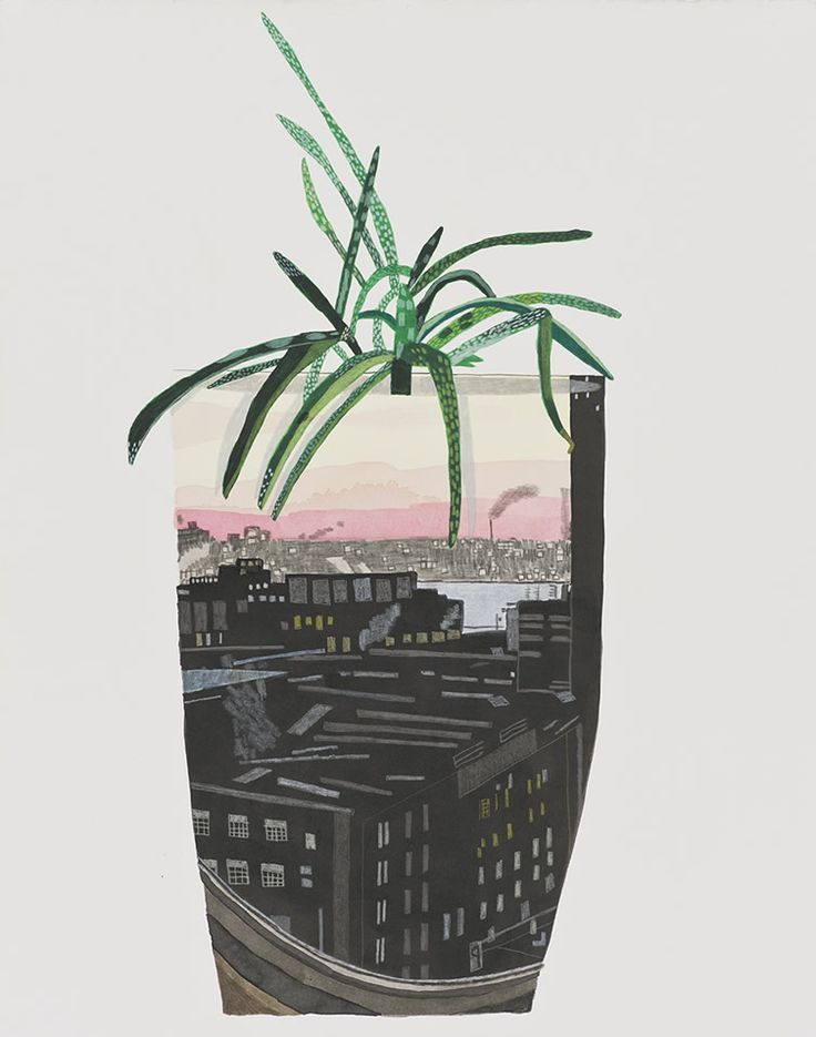 Jonas Wood's nostalgic paintings reinterpret domestic scenes, family snapshots and unusual houseplants... http://www.we-heart.com/2014/11/21/jonas-wood-david-kordansky-los-angeles/