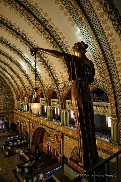 Train Station, St. Louis, Missouri by susan62, train stations were always such incredible buildings, just beautiful.