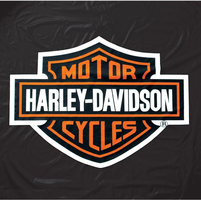 Harley Davidson® Bu0026S Black Vinyl Pool Table Cover