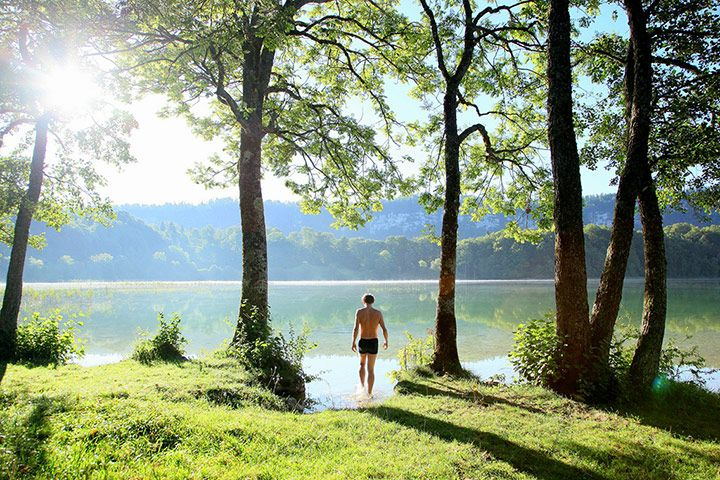 France is a spectacular destination for wild swimming. Its rivers, lakes and waterfalls are some of the cleanest in Europe and the summers are reliably warm – in the south at least. Lac d'Ilay is in the Jura region, a remote and empty land with countless lakes and waterfalls