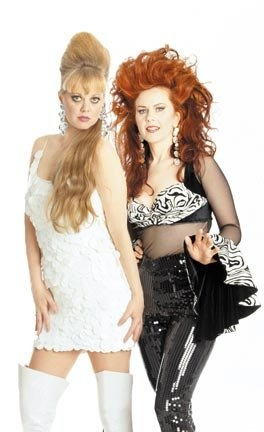 Kate Pierson and Cindy Wilson from the B52s