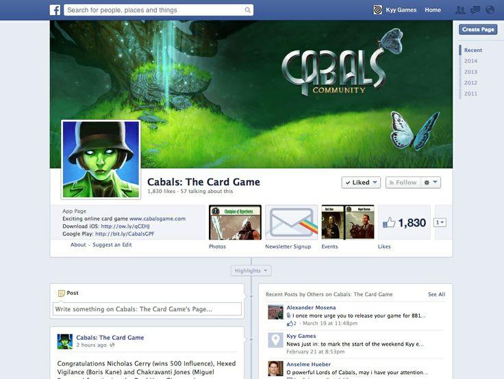 Facebook http://www.facebook.com/cabalsgame