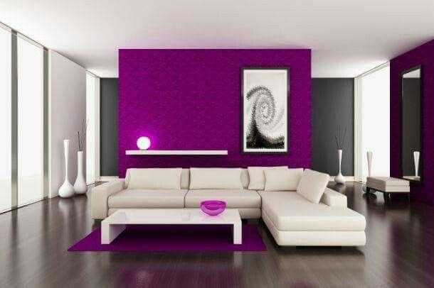 Lila Wänden, Akzent Wandfarben, Lila Wohnzimmer, Ideen Für Wohnzimmer,  Wohnzimmer Bilder, Weiße Wale, Weiße Zimmer, Haus Gemälde, Dekoration