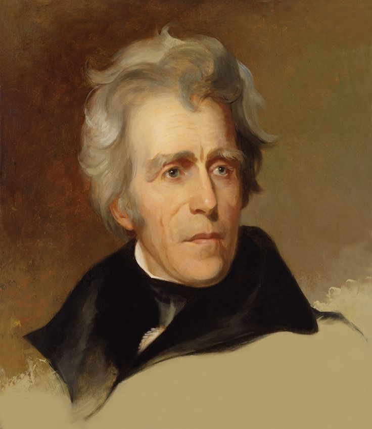 """Andrew Jackson, the military commander turned President, ruled with a kind of tyranny of popular will. Famous for paying off the debt and for the forced relocation of Indians to Oklahoma (the """"Trail of Tears""""), his brash and bold leadership defined his time: the Jacksonian Era. Perhaps the best biography of our 7th President is """"American Lion: Andrew Jackson in the White House"""" by Jon Meacham. A thorough exploration of his time can be found in """"What Hath God Wrought"""" by Daniel Walker Howe."""