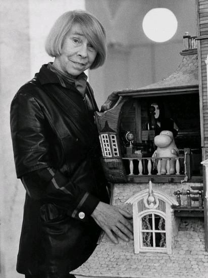 Tove Jansson with her Moomin