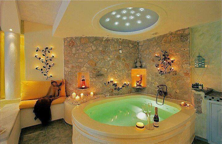 Basement Hot Tub Ideas | Bath/indoor hot tub.....so pretty n peaceful