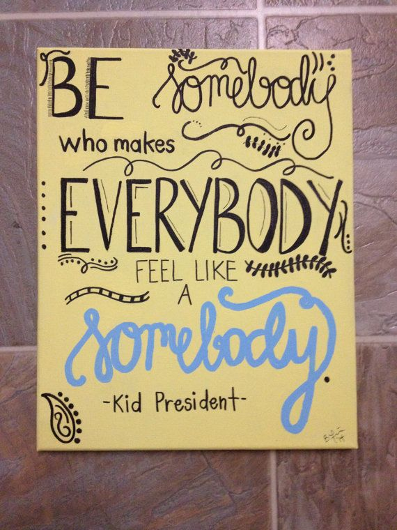 Made-to-Order Custom Canvas Kid President Painting! Looking for the perfect piece to complete your space? This inspirational Kid President