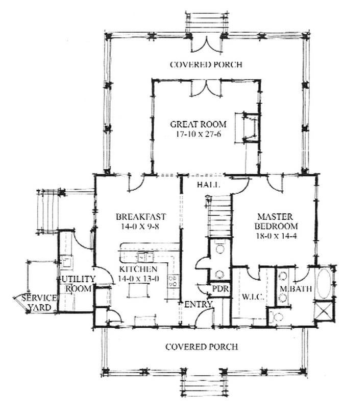 Allison Ramsey Architects Floorplan For The Oak Spring