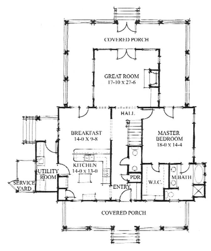 Allison Ramsey Architects Floorplan For The Oak Spring