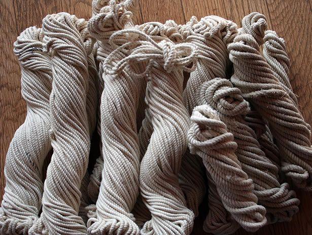 綿ロープ - 紡ぎ車と世界の原毛アナンダ - ネット店