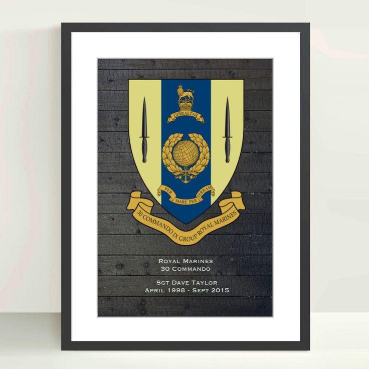 Royal Marines 30 Commando Personalised Poster - Royal Marine Commando Shop