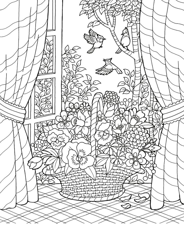 fall scenes coloring pages - photo#36