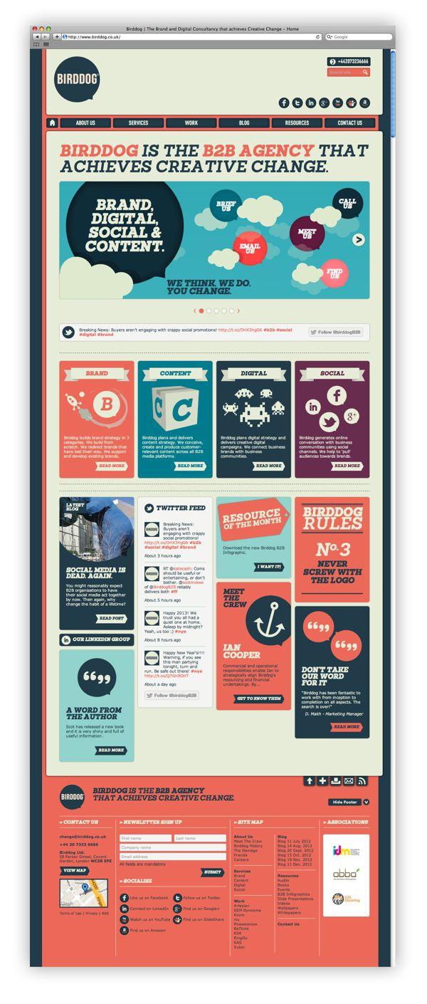 Birddog Website by I Like Shiny Things , via Behance | #Webdesign #inspiration | UI | UX