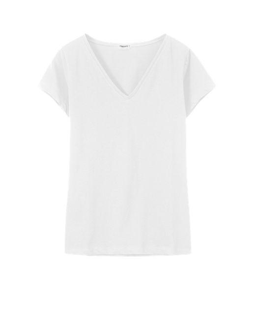Fine Lycra V-Neck Top - Tops - Shop Woman - Filippa K