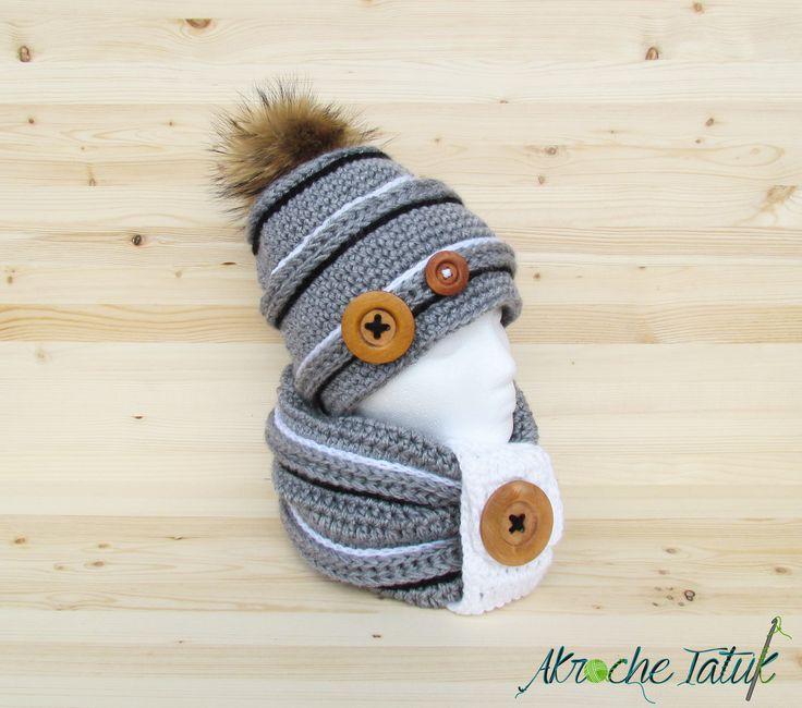 Tuque bonnet au crochet / hat crochet pattern  For winter
