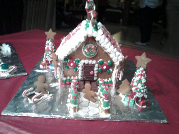 Gingerbread house icing. Saved this recipe from a parent workshop with my oldest daughter. Very easy to whip up, and the kids LOVED to taste it along the way!! Used whatever leftover icing to glue gingerbread house ingredients with a clean popsticle stick to an empty 8oz. milk carton.