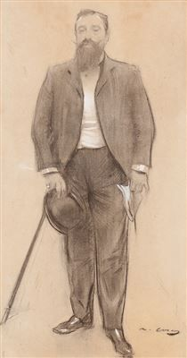 Ramon Casas i Carbó (Catalan pronunciation: (4 January 1866 – 29 February 1932) was a Catalan Spanish artist. Living through a turbulent time in the history of his native Barcelona, he was known as a portraitist, sketching and painting the intellectual, economic, and political elite of Barcelona, Paris, Also a graphic designer, his posters and postcards helped to define the Catalan art movement known as modernisme.