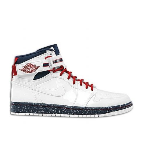 Air Jordan 1 High Strap Premium White White Varsity Red Midnight Navy This  site sells Air Jordan shoes half off!