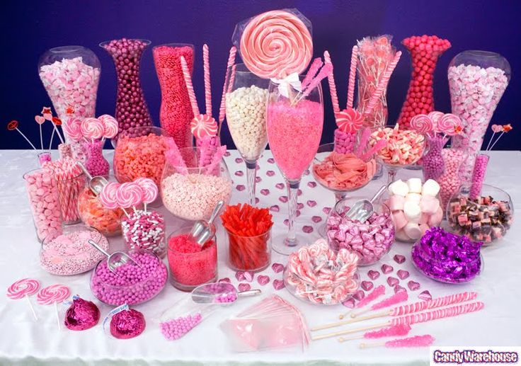 Pink Candy Buffet #polkadotdesign #summerparty