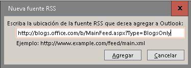 Agregar fuente RSS