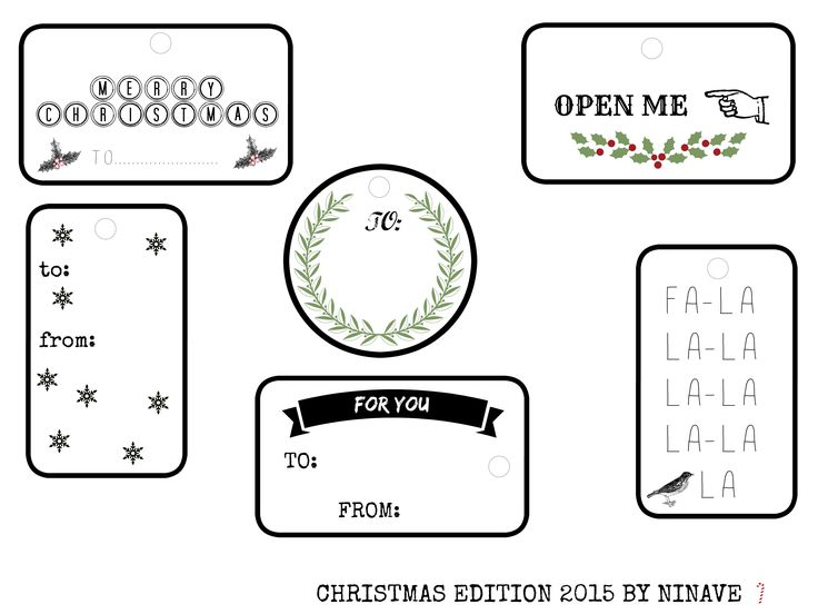 MY CHRISTMAS TAGS 2015. #tags #printable #freeprintables #christmas #2015 #christmastags:
