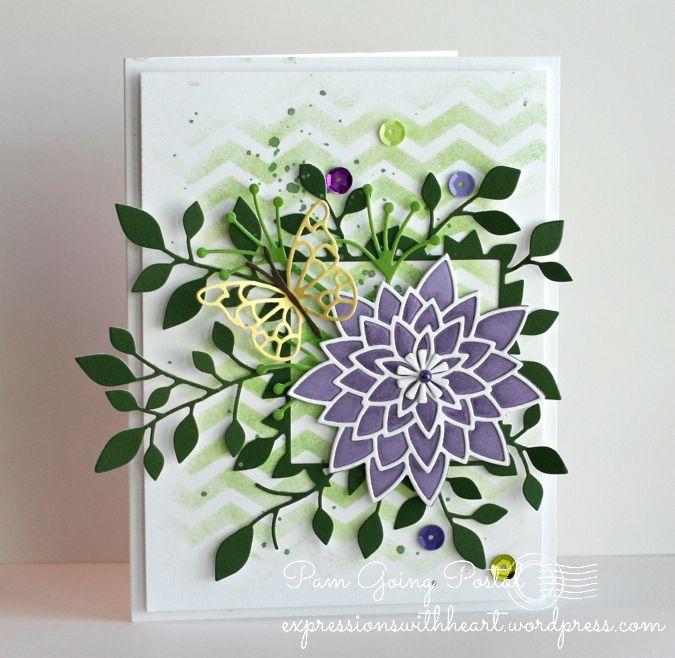 Image result for memory box Pavilia bloom outline