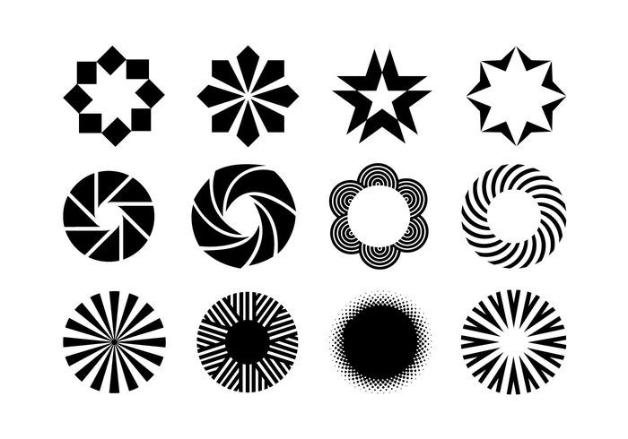 Free vector Creative Objects for Logo, Web & Graphic Designs #22468