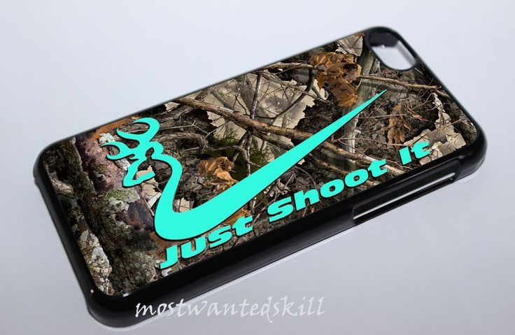 Mint Browning Camo Just Shoot It Custom Hard Cover Case For iPhone 6  (4,7 inch) #UnbrandedGeneric