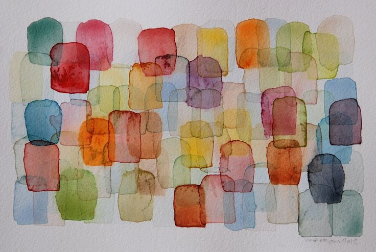 chris crossen painting - study for color theory bright palette