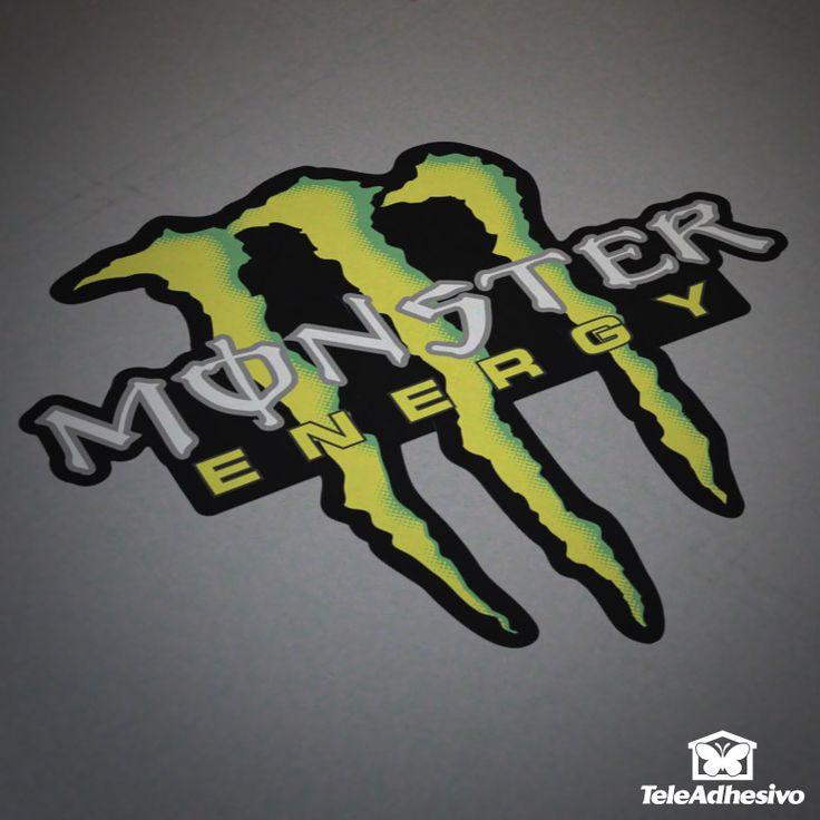 Pegatina Monster Energy Drink #monster #energy #drink #pegatina #adhesivo #tuning #moto #TeleAdhesivo
