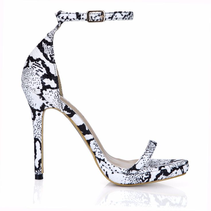 2016 New Snake Prints Sexy Party Women's Shoes Stiletto Heel Ankle Strap Sandals with Buckle Big Sizes Zapatos Mujer 0640A-13e